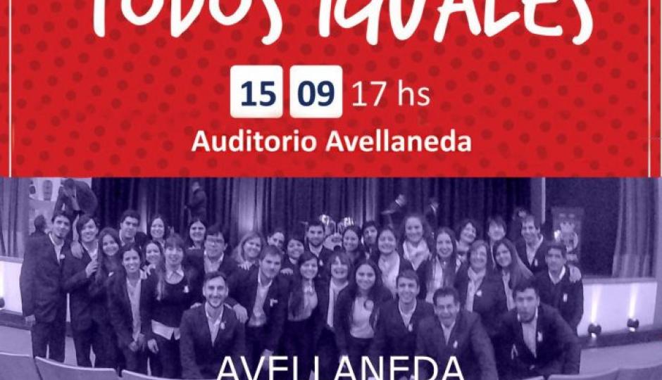 """Llega """"Todos distintos, todos iguales"""" al Auditorio de Avellaneda"""