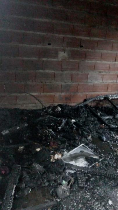 Incendio en una vivienda.