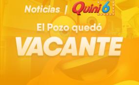 El Quini 6 quedó vacante con un pozo de 120 millones de pesos para el domingo.