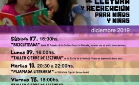 Los talleres de Lectura y Recreación cierran el año en Reconquista. Aquí, la agenda de actividades que son con entrada libre y gratuita.