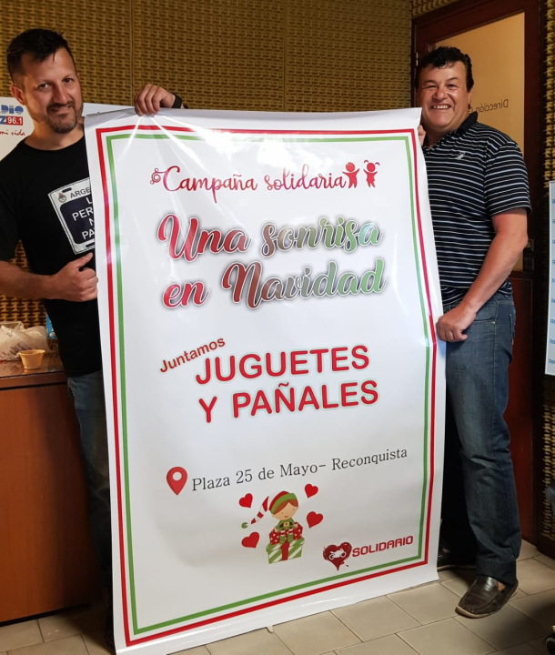 Ariel Sesma y José Luis Vera por la campaña solidaria1.jpg