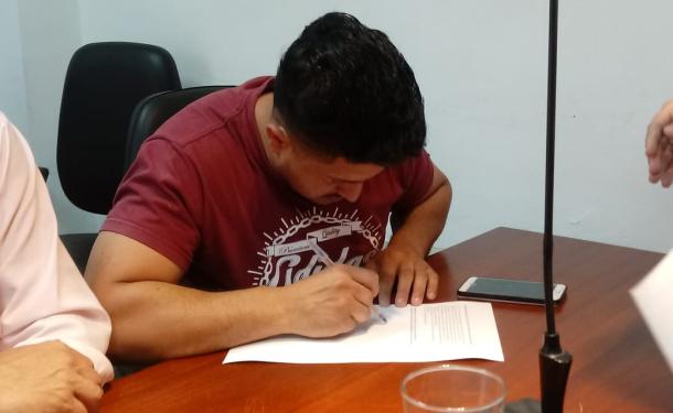 Marcos Aguilar está detenido por haber violado la perimetral con su ex pareja.