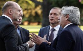 Perotti se reunión con Alberto Fernández y funcionarios nacionales.