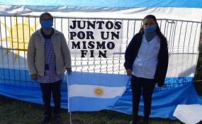 En el acceso Sur a Reconquista se realizó la concentración de los empleados públicos que sienten que se vulneran sus derechos. Qué expresaron en RH. Nota con Audio y video.