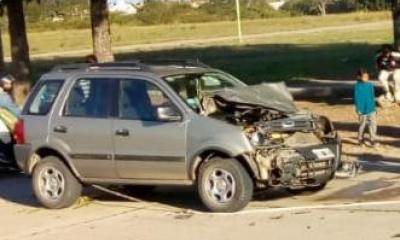 Una Ford Ecosport chocó con un caballo en Avellaneda.