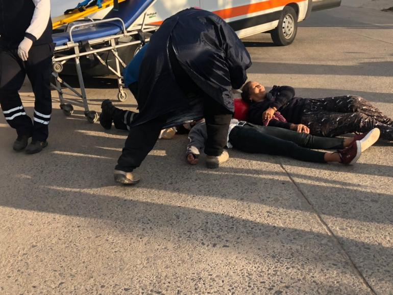 16:30 hs choque en Olessio al 2100 Marcela Sánchez y una menor
