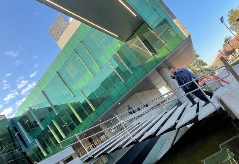 Baclini en el nuevo edificio del Poder Judicial de Reconquista.