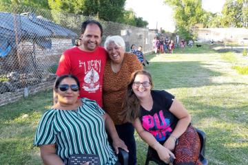 inauguración plazoleta Barrio La Loma 06 dic 2019 Rosita Baez pta con otros vecinalistas.jfif