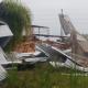 Ráfagas de viento hicieron desastre sobre tres inversiones en el Parque Industrial de Avellaneda.