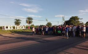 5a jornada de reclamos de los trabajadores desocupados del ingenio azucarero de Las Toscas.