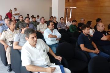 Conferencia de prensa para prevenir el Coronavirus. Fue en la mañana del viernes 13 de marzo de 2020 en el Hospital Reconquista.