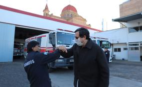 El Intendente Dr. Amadeo Enrique Vallejos participó de la celebración del Día Nacional del Bombero Voluntario.