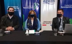 VIDEO EN VIVO: Presentaron el plan de agua y cloacas para Reconquista. Sectores a expandir servicios, cantidad de beneficiados, montos de cada inversión y otros detalles.