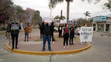 La movilización en Reconquista en repudio al Pacto de Producción Porcina con China.