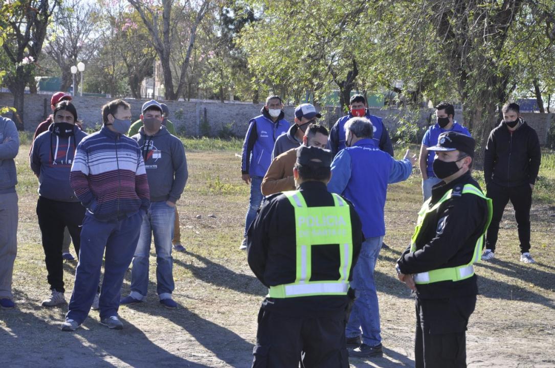Corte de ruta en el ingreso sur a Las Toscas