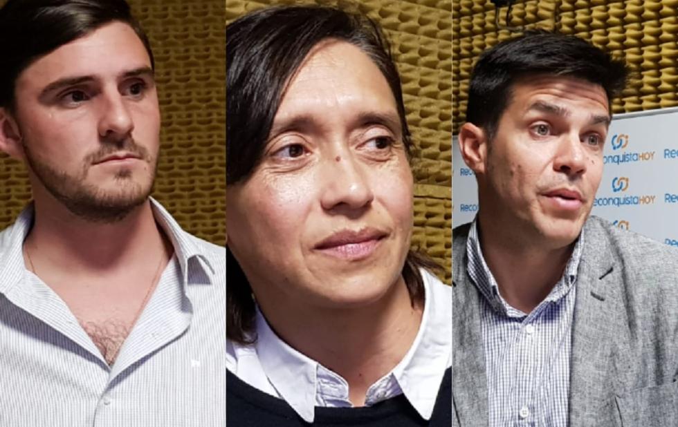 Matías Gonella, Rosina Sandrigo y el Dr. Rodrigo Santos Roberts