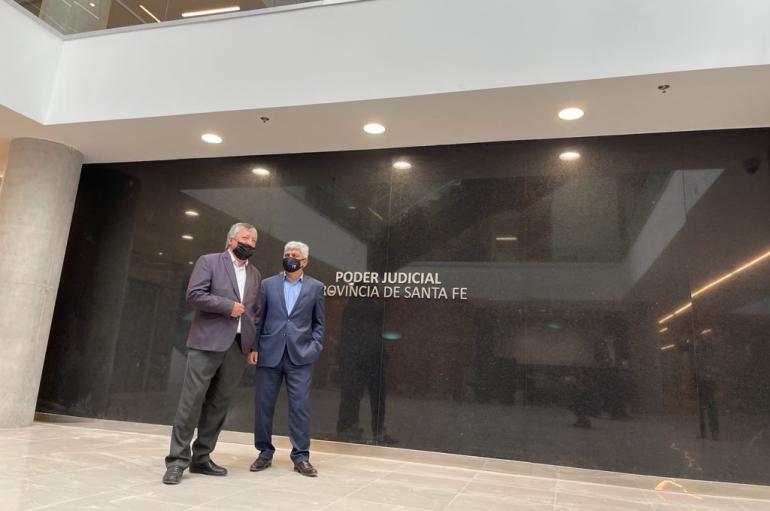 El Fiscal Regional Rubén Martínez y el Fiscal General Jorge Baclini.